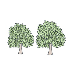 A view of trees vector image
