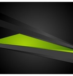 Abstract corporate digital green and black vector image vector image