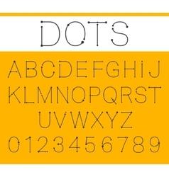 Alphabet font template vector