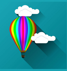 balloon against the background of clouds vector image vector image