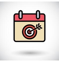 Calendar with goal vector