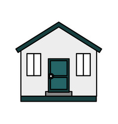 cute wooden house isolated icon vector image