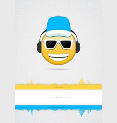 emoji icon poster vector image vector image