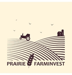 Farm investment business logo vector