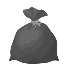 Garbage bag icon in monochrome style isolated on vector