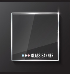 Glass plate realistic vector