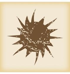 Grungy starburst icon vector