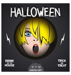 Halloween horror movie poster vector