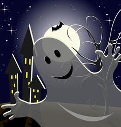 helloween ghost vector image vector image