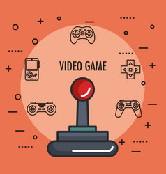 Joystick gamepad icon video game controller symbol vector