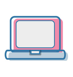 Laptop technology and business information icon vector