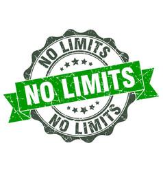 No limits stamp sign seal vector