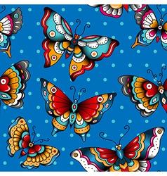 Pattern butterflies vector