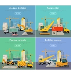Process of construction residential houses vector