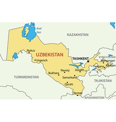 Republic of uzbekistan - map vector