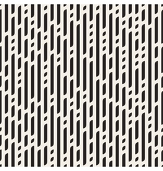 Seamless Black And White Dashed Vertical vector image