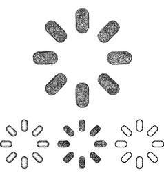 Spinner icon set - sketch line art vector image vector image