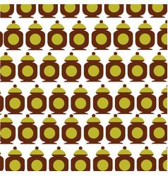 Sugar pot pattern background vector