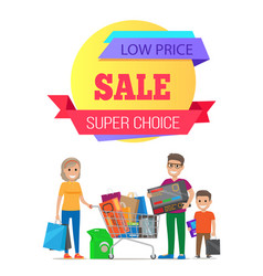Super choice low cost special offer discount promo vector