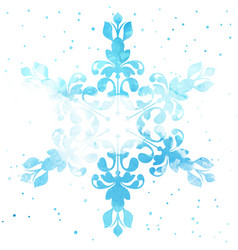 Watercolour snowflake vector