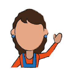 woman avatar icon image vector image