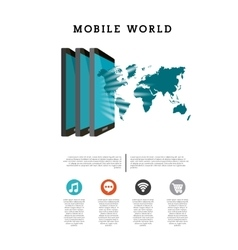 world mobile design vector image