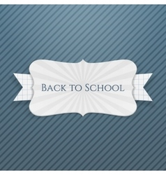 Back to school festive tag vector