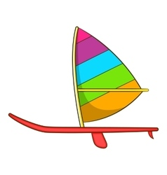 Sport boat with a sail icon cartoon style vector