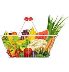 Diet basket vector image