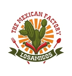 Mexican restaurant isolated icon vector