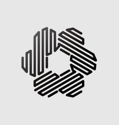 Abstract hexagonal linear shape vector
