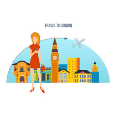 trip to london a visit city and attractions vector image