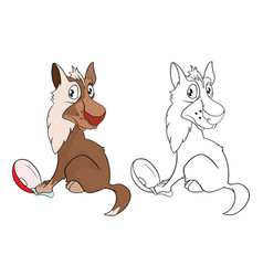 Wolf cartoon character vector