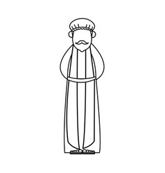 Wise man cartoon epiphany tradition icon vector
