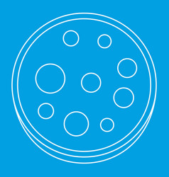 Slice of salami icon outline vector