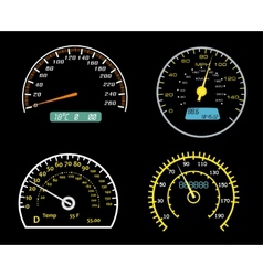 Speedometers dials set vector