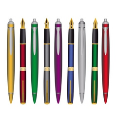 Pen and ink pens vector