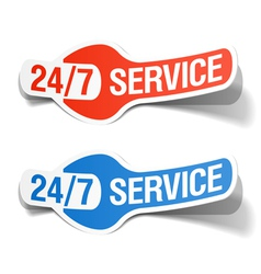 24 hours a day service sticker vector image