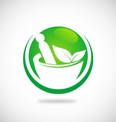 Traditional medicine logo vector