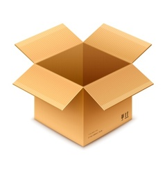 Open box cardboard package vector