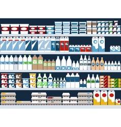 Dairy aisle vector
