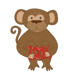 Hand-drawn cartoon style monkey 2016 the chinese vector