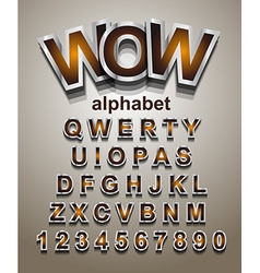 Christmas alphapet font to use for childrens vector