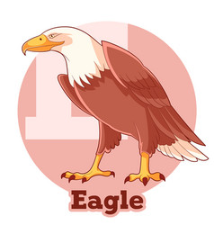 Abc cartoon eagle vector