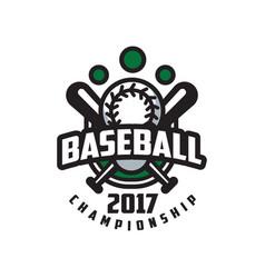 Baseball championship 2017 logo template design vector