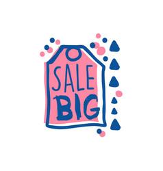 big sale logo template special offer label vector image