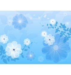 Blue floral background flower vector image