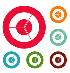 Circle diagram icons circle set vector