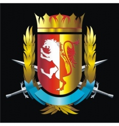 Crest with lion vector