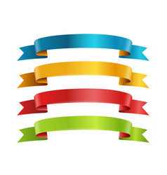 Different color ribbons collection template for a vector
